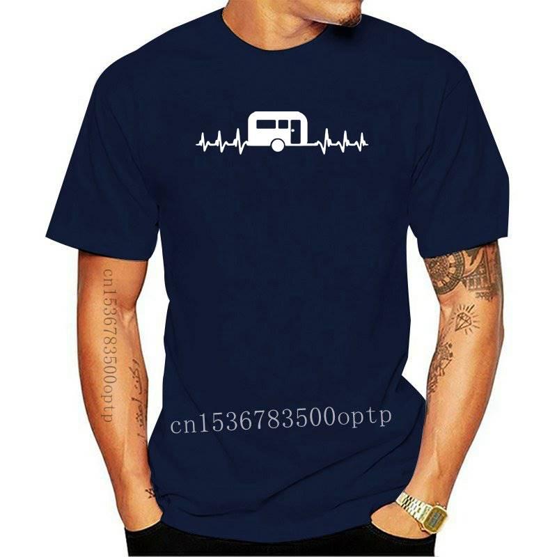 2021 Its In My HeartBeat Caravanning T Shirt Campinger Caravan T-Shirt FREE UK PP T-Shirt for Men/Boy Short Sleeve Cool Tees