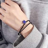 couple minimalist star lovers friendship bracelet exquisite high quality double layer bracelet lover jewelry