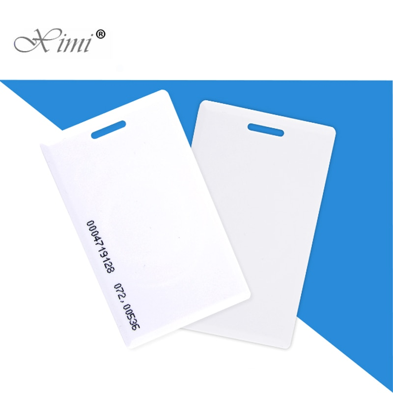 125KHZ/13.56MHZ RFID Card Proximity Card Smart Card For Access Control And Time Attendance System TK4100 ID/IC thick card
