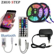 5M 10M 15M LED Strip RGB 5050 SMD Flexible Ribbon fita led light strip RGBTape Diode DC 12V Bluetooth Control Adapter