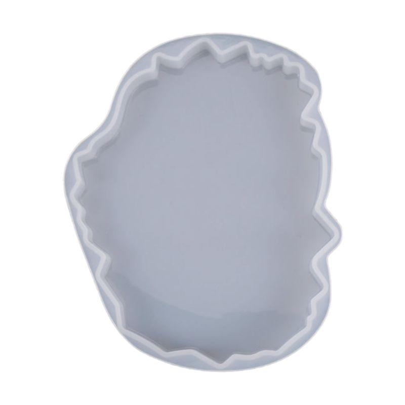 Silicone Crystal Epoxy Resin Mold Irregular Wave Coaster Mat Casting DIY Mould 85LB