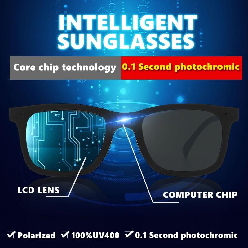 LIOUMO-نظارات شمسية فوتوكروميك ذكية للرجال والنساء ، عدسات متغيرة اللون ، 0.1 ثانية ، قيادة