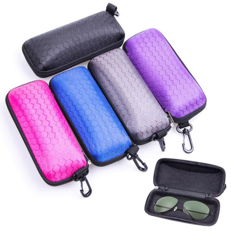 Protable Rectangle Zipper Sunglasses Hard Eye Glasses Case Protector Box JAN88