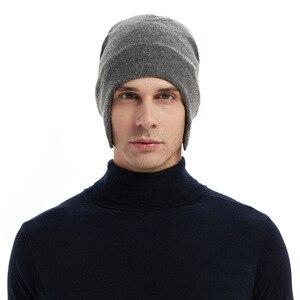Skullies Beanies Men Winter Hat Women Knitted Hats For Men Cap Winter Beanie Hatthick Warm Brimless Fur Bonnet Men's Cap