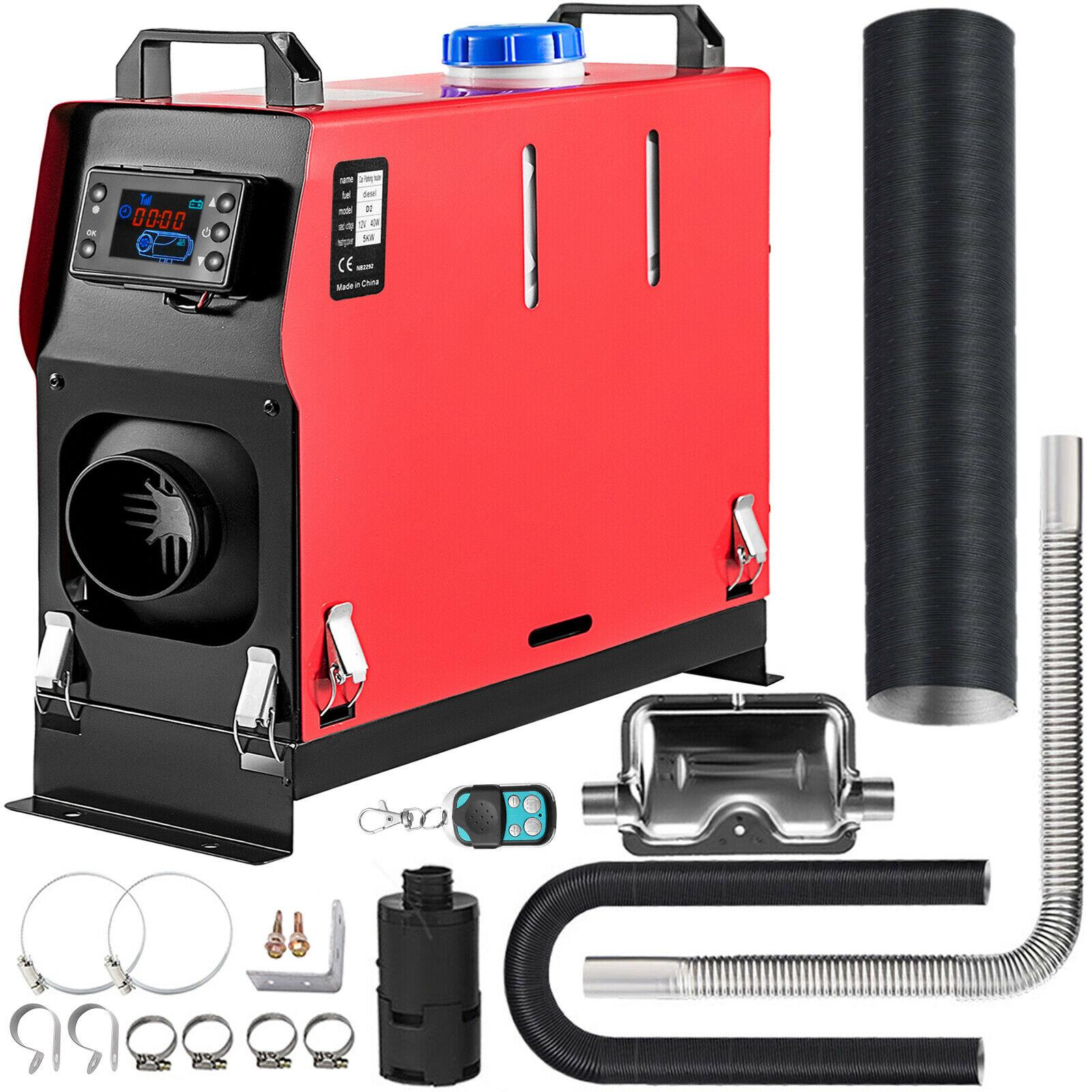 Дизельный подогреватель воздуха, 12 В, 5 кВт, универсальный ЖК-монитор с низким уровнем шума для лодок, автобусов, автомобильный обогреватель ...