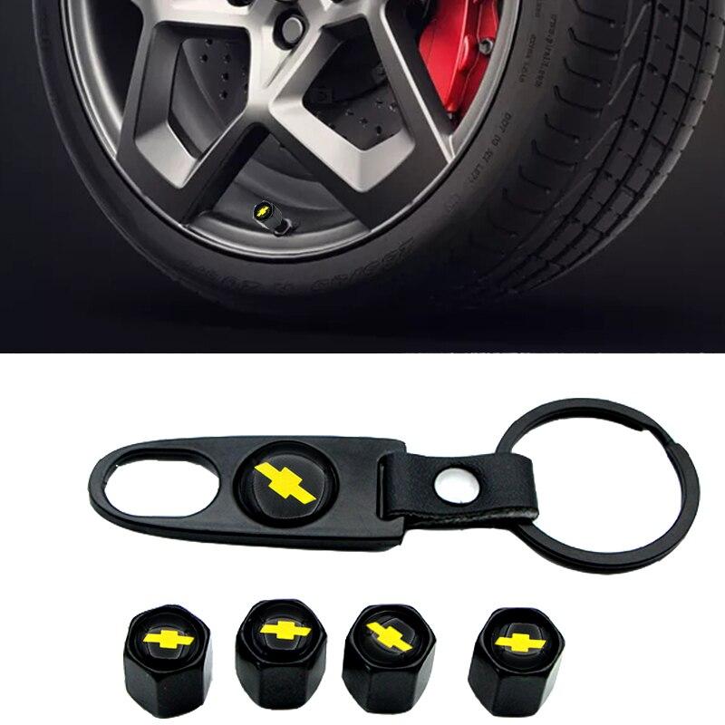 LLavero de tapa polvo del neumático de la válvula del neumático de la rueda de la insignia del coche para Chevrolet cruze captiva lacetti aveo niva trax onix Accesorios