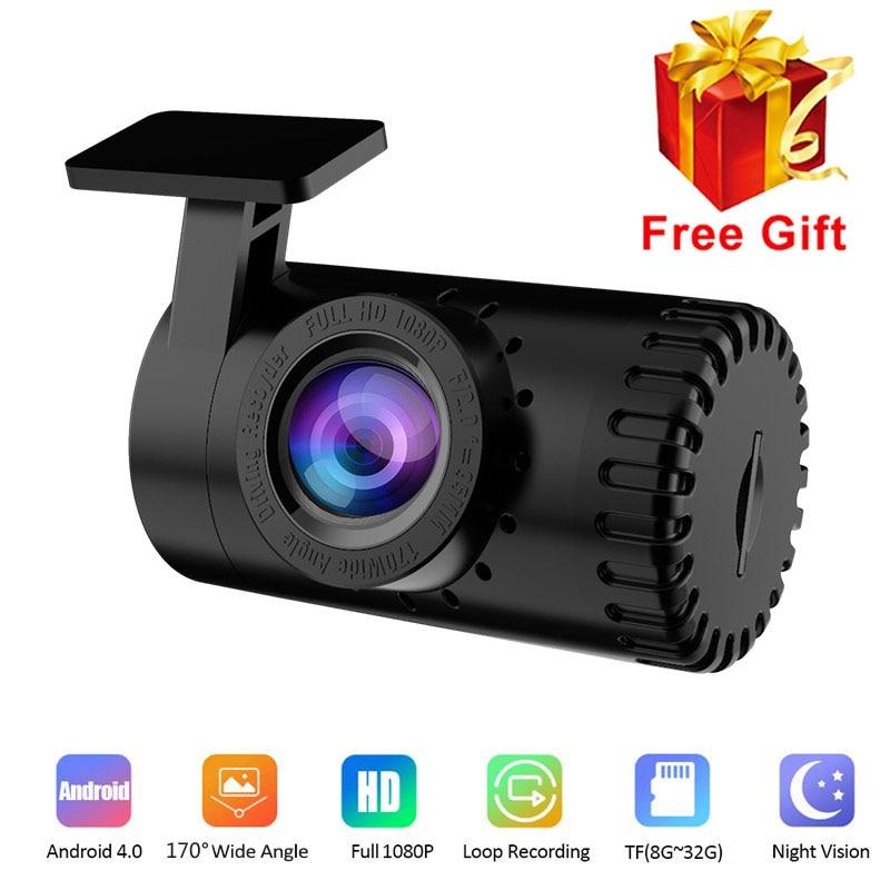 1080P HD USB автомобильная видеокамера ночного видения, видеорегистратор, видеорегистратор Android 170, широкоугольный Автомобильный видеорегистра...
