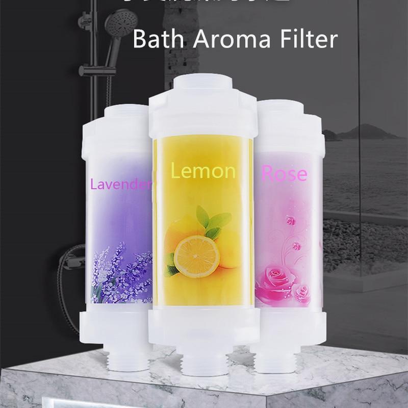 Shower Aroma Filter Water Purifier Set for Bathroom and Shower Lemon Vitamin C Purifie Shower Bathroom Amenities Bathroom Faucet