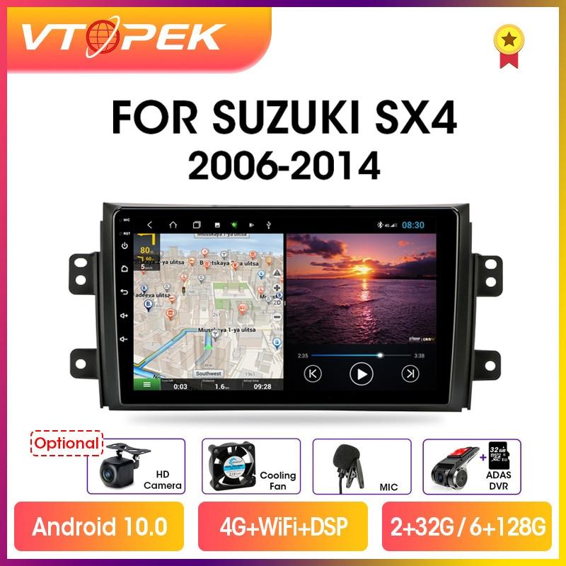 Фото - Vtopek 9 4G Carplay DSP 2din Android 10.0 Car Radio Multimidia Player Navigation GPS For Suzuki SX4 2006-2014 Head Unit 2 din vtopek 9 4g wifi dsp 2din android 10 0 car radio multimedia player navigation gps for honda crv cr v 2006 2012 head unit 2 din