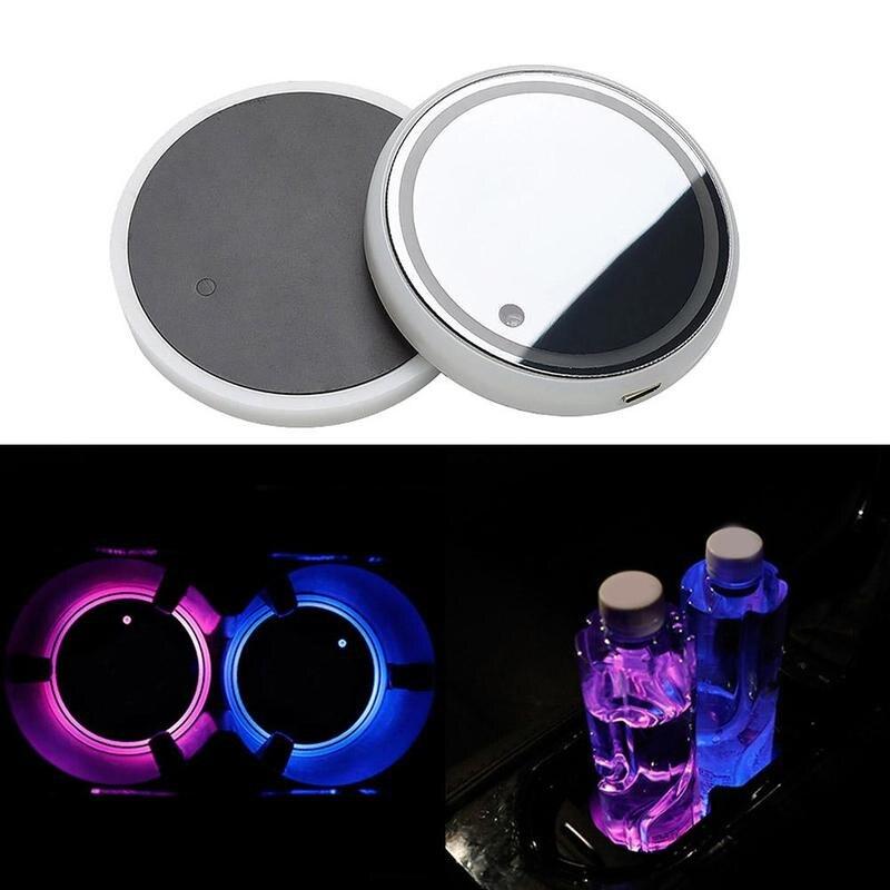 Автомобильный купол светодиодный подстаканник Автомобильный Интерьер лампа USB красочная атмосфера светильник, держатель для напитков, ант...
