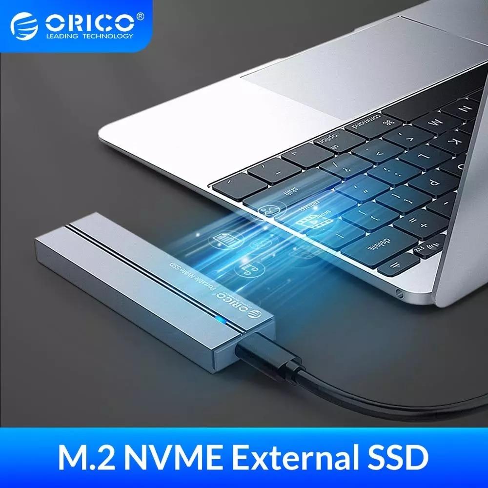ORICO خارجي وسيط تخزين ذو حالة ثابتة/ القرص الصلب 1 تيرا بايت SSD 128GB 256GB 512GB SATA SSD mSATA SSD NVME محرك أقراص الحالة الصلبة المحمولة مع نوع C USB 3.1