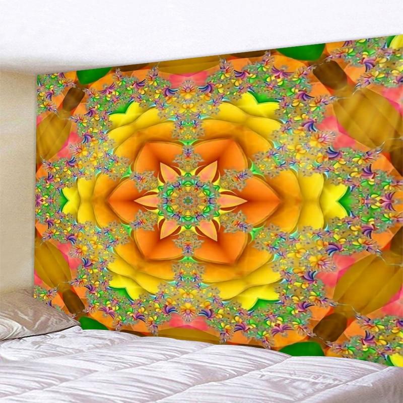 Красивый гобелен с узором, индийский гобелен с мандалой, настенные гобелены в стиле бохо, настенный ковер для спальни, покрывало на диван, 6 р...