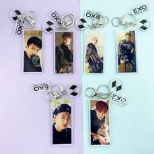 Kpop EXO musique Concert porte-clé breloque porte-clé Transparent CHANYEOL SEHUN BAEKHYUN D.O. XIUMIN Suspendus Porte-clés