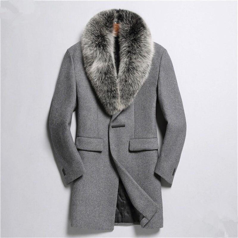 YOLANFAIRY chaqueta De Otoño Invierno para Hombre Abrigo De Lana De calidad...
