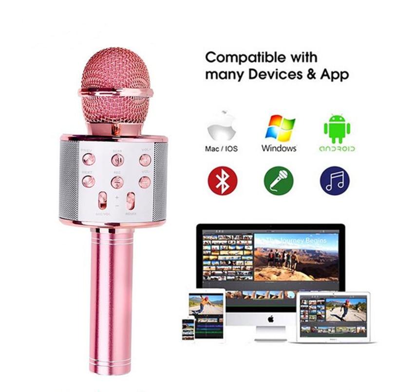 Bluetooth Drahtlose Mikrofon Karaoke Lautsprecher KTV Musik Player Singen Recorder Handheld Mikrofon Mic
