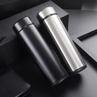 500ml stainless steel vacuum leak proof water cup thermos coffee cup display business straight thermos christmas gift