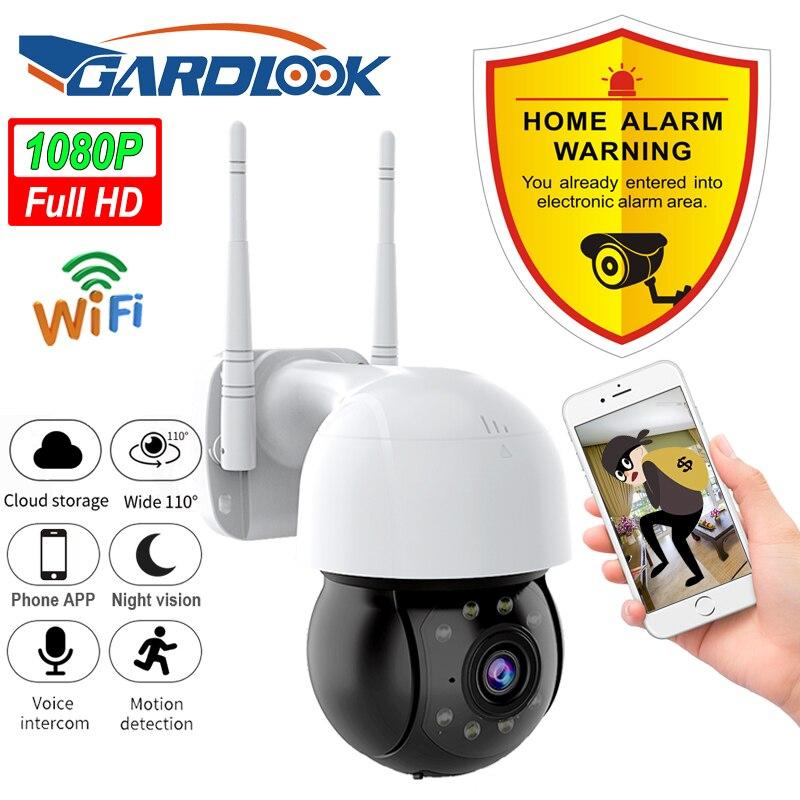 1080P في الهواء الطلق واي فاي كاميرا IP PTZ AI الإنسان كشف كاميرا لا سلكية P2P الصوت 2MP الأمن كاميرات الدوائر التلفزيونية المغلقة للمراقبة بالفيديو