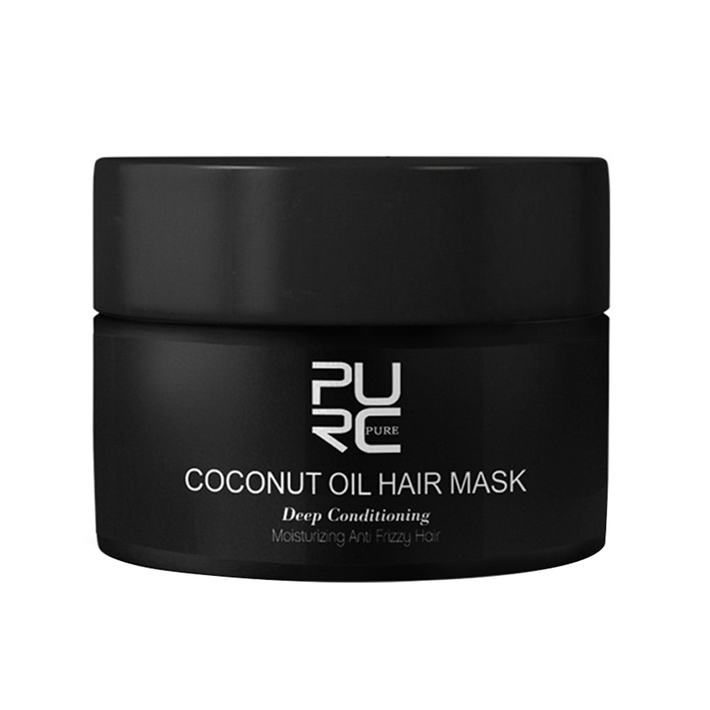 50ml reparação danos hidratante restaurar creme tratamento profundo nutritivo cuidados domésticos brilhante condicionador de cabelo alisamento óleo de coco