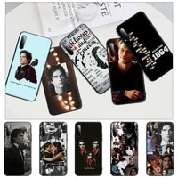 the vampire diaries black silicone phone case for huawei y6 y7 y9 prime 2019 y9s mate 10 20 40 pro lite nova 5t cover