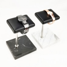 New Marble and PU Leather Watch Holder Stand Storage Boxes Case Fashion Watch Display Case Jewelry G