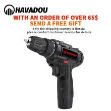 HAVADOU destornillador de taladro eléctrico de impacto inalámbrico 12V 2 velocidades Mini Power Driver