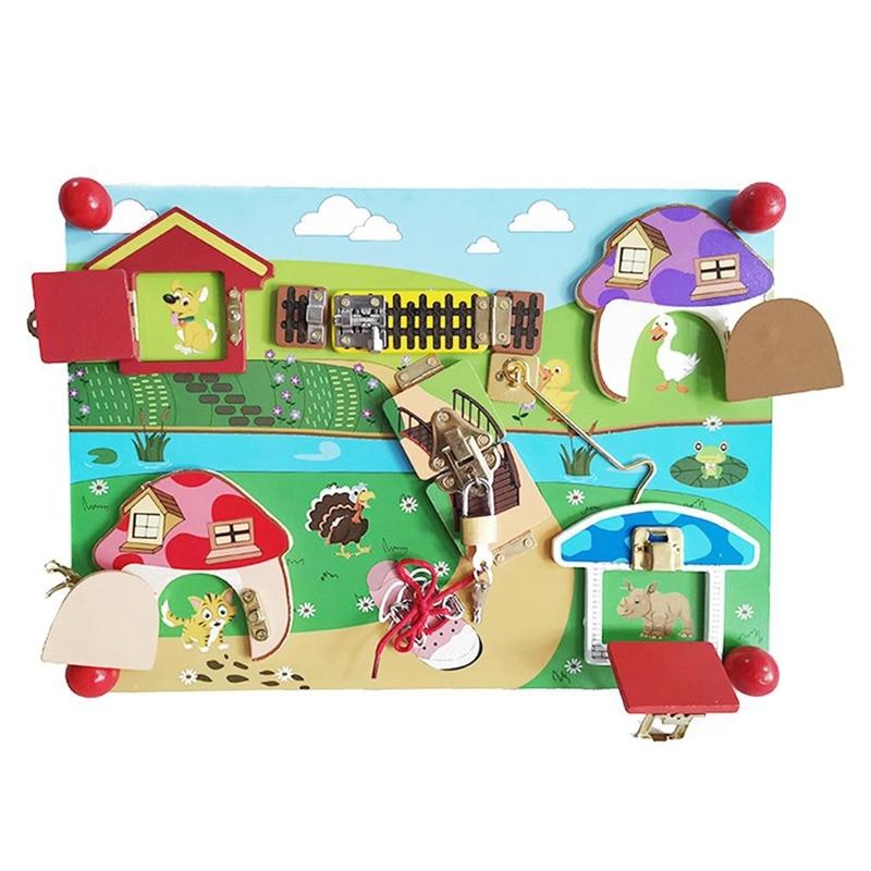 Детские разблокирующие игрушки, Когнитивная доска, Игрушки для раннего развития и мудрости для детей дошкольного возраста, учебные пособия