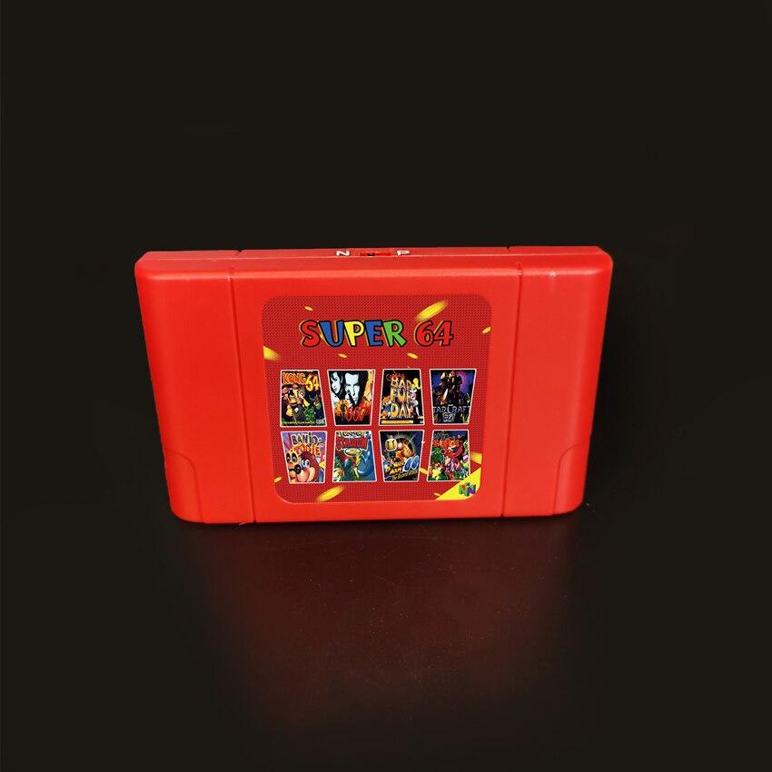 KY Technology جديد سوبر 64 ريترو بطاقة الألعاب 340 في 1 لعبة خرطوشة ل N64 لعبة فيديو وحدة التحكم