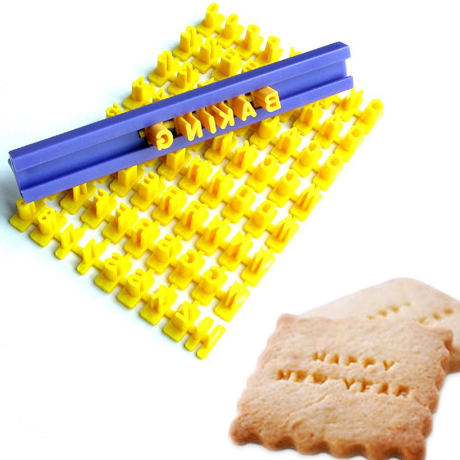 New Letter Biscuit Cake Mold Kitchen Cutter Birthday Party Decoration Baking Mold Household Plastic DIY Tools