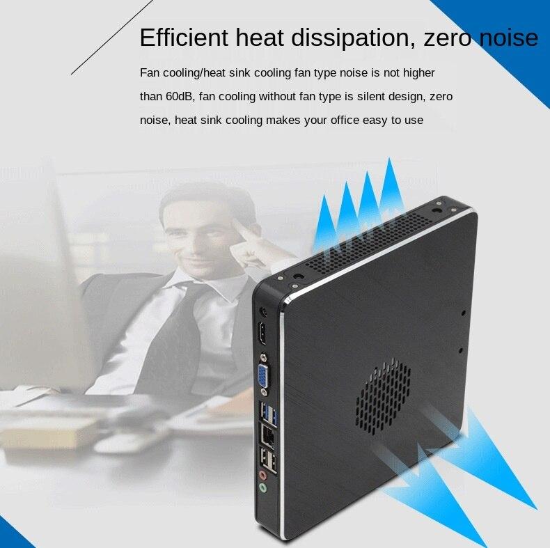 Client cloud terminal I3-6100U dual-core mini computer host mini industrial computer HD network port