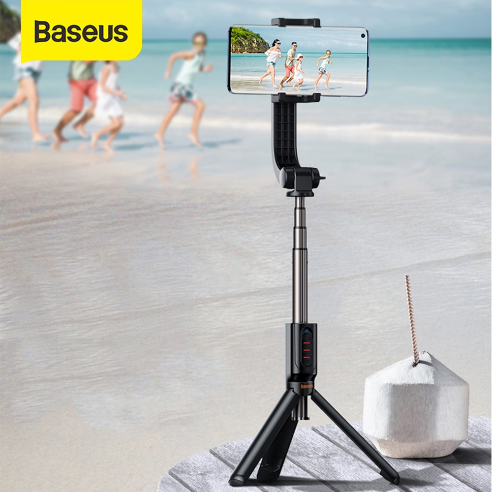 Baseus 3 en 1 sans fil Bluetooth Selfie bâton tenu dans la main monopode obturateur Selfie bâton à distance extensible Mini trépied Selfie bâton