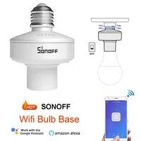 SONOFF     Support dampoule WiFi intelligent lamppher R2 E27  commutateur RF  Support RM433  automatisation sans fil  Compatible avec Alexa Google Home