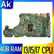 Akemy For Asus X555UAB X555UJ X555UF X555UQ X555UB A555U K555F carte mère dordinateur portable F555U 4 Go de RAM testé 100% dorigine mainboard