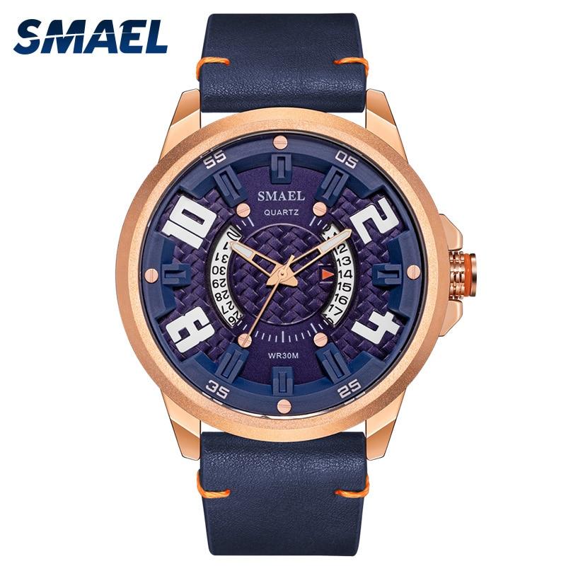 SMAEL Men Watches 2021 Luxury Brand Alloy Male Quartz Clock Sport Watch Shock Waterproof Men's Analog Wrist Watch reloj hombre