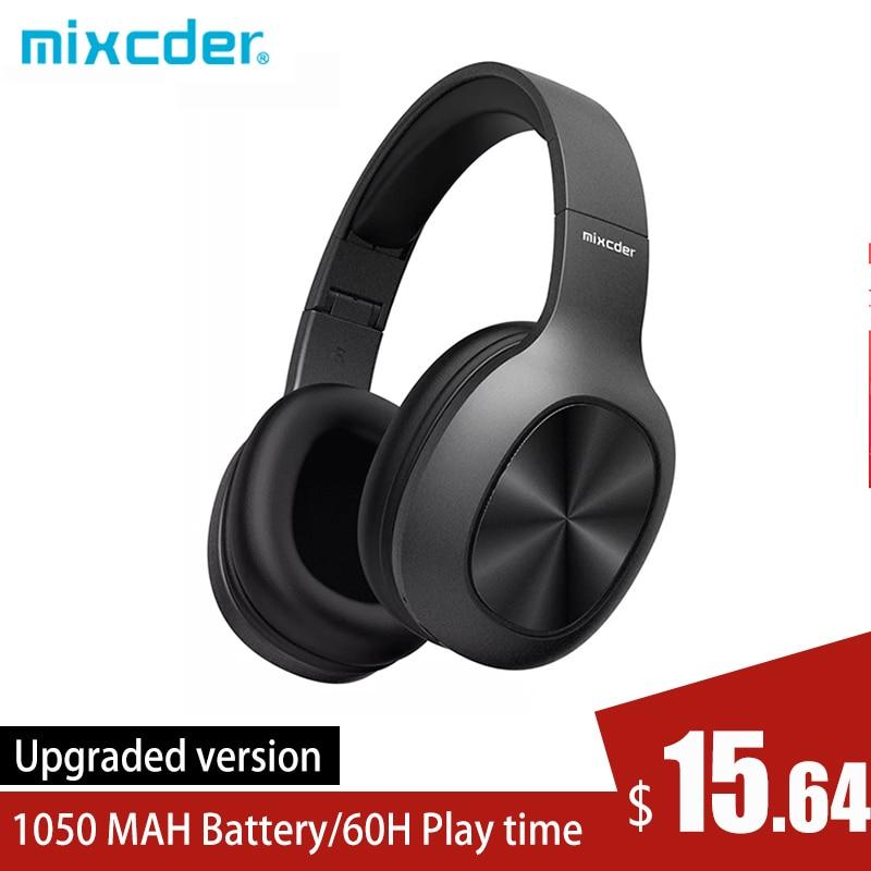 Mixcder HD901 سماعات لاسلكية بلوتوث 5.0 TF بطاقة تحكم مجاني 40 مللي متر السائقين سماعة مع ميكروفون لرياضة الناس