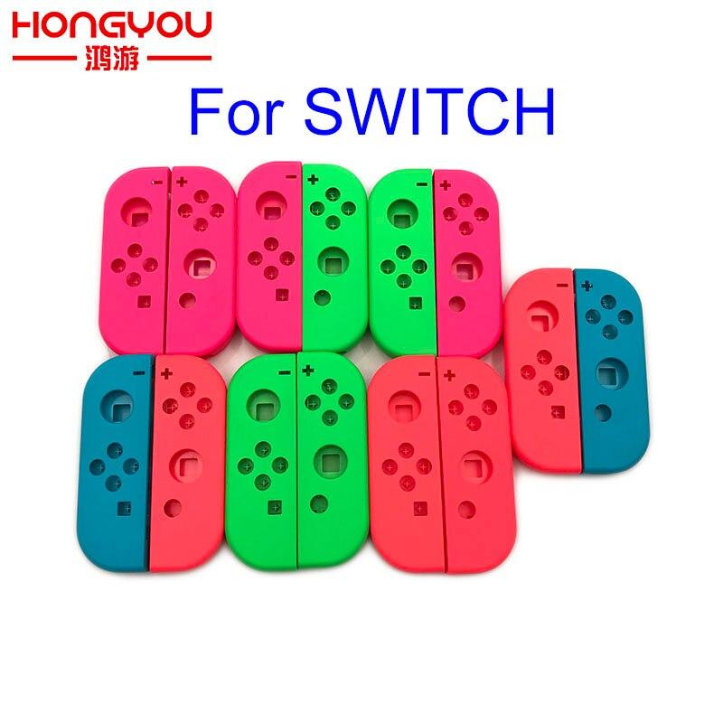 Carcasa de repuesto 5 uds naranja púrpura para Nintendo Switch Joy-Con para NS JoyCon Cover para NX Joy Con Controller Case