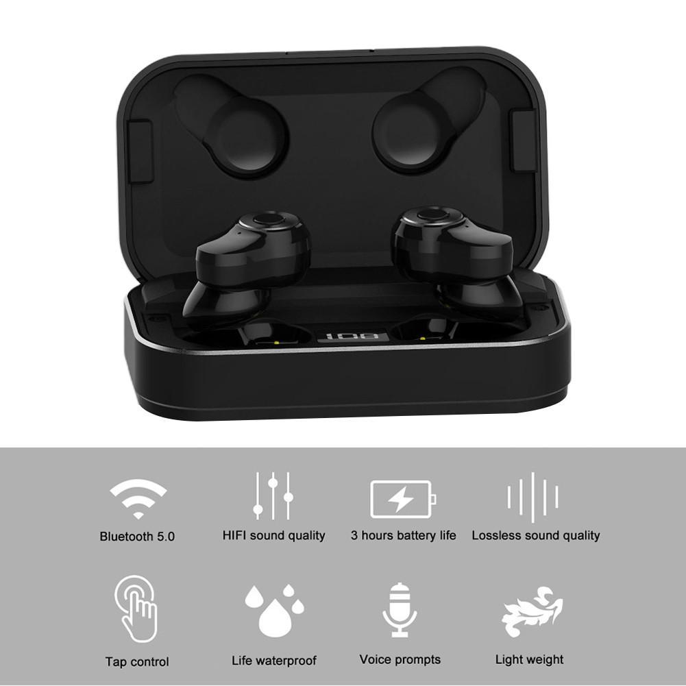 A6 TWS auriculares inalámbricos Mini deportivos Bluetooth 5,0 auriculares estéreo Binaural llamada HD IPX7 auriculares impermeables con caja de carga
