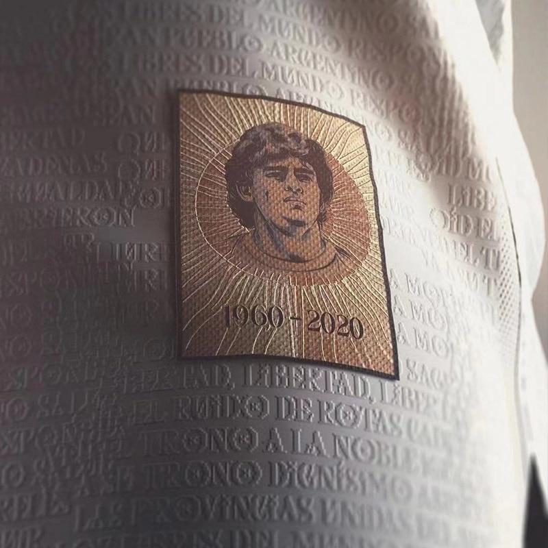 Camiseta de fútbol de Argentina MARADONA, MESSI, Camiseta de aniversario, Camiseta personalizada...