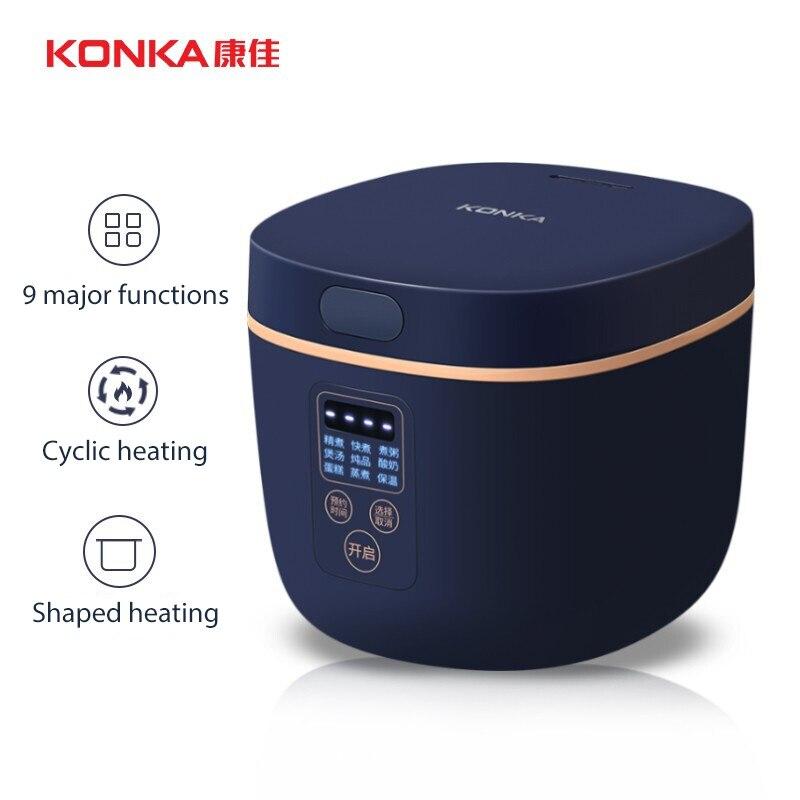 konka mini panela de arroz portatil panela de viagem pequeno antiaderente manter