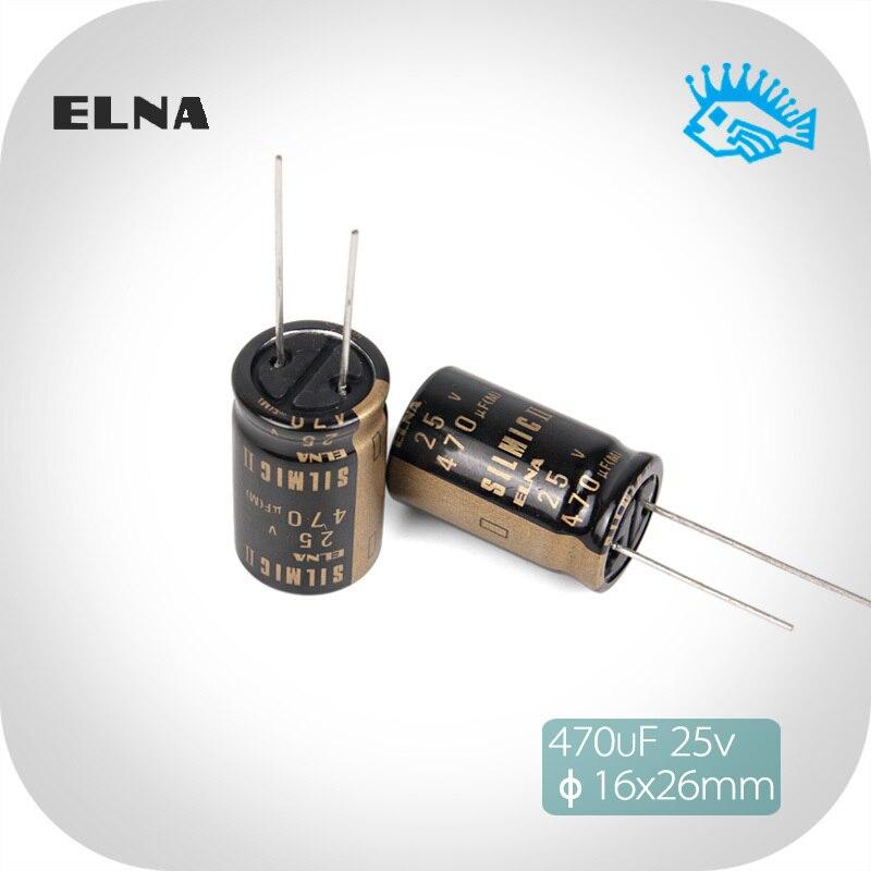 2 uds/4 Uds 470 UF/25 V SILMIC II generación RFS ELNA nuevo Original de Audio condensador electrolítico