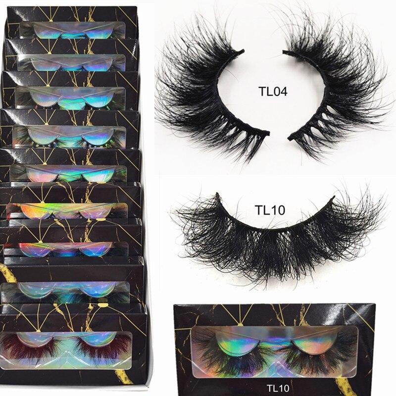 Eyelashes Mink Eyelashes Thick Natural Long False Eyelashes 3D Mink Lashes High Volume Soft Dramatic