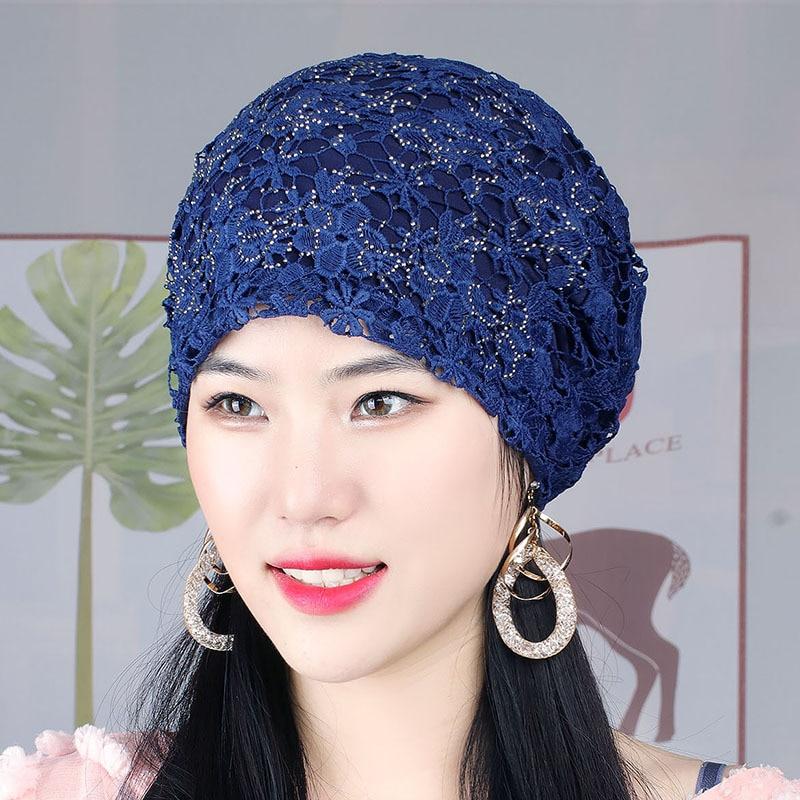 Мусульманский тюрбан, женская шапка с цветочной вышивкой, женская шапочка-бандана, женская головная повязка