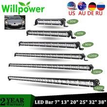Супер яркий Однорядный тонкий светодиодный светильник-бар 90 Вт 120 Вт 150 Вт 180 Вт 60 Вт 7