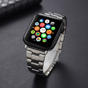 Quick Relaease Metal Watchband for Apple Watch Series 6/SE/5/4/3/2/1 Tool-Free Removal Band Compatible for Iwatch 44mm 42mm 40mm