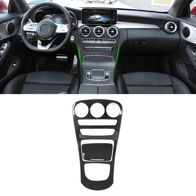 Cubierta de Panel de Cambio de marchas de fibra de carbono ABS para Mercedes Benz GLC clase 2019 2020