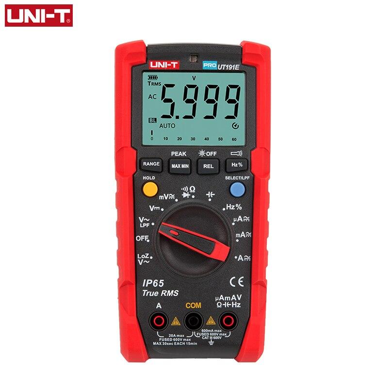 UNI-T UT191E UT191T المهنية رقمي متعدد وحدة صحيح RMS ACV AC DC الجهد الحالي متر مكثف المقاوم اختبار