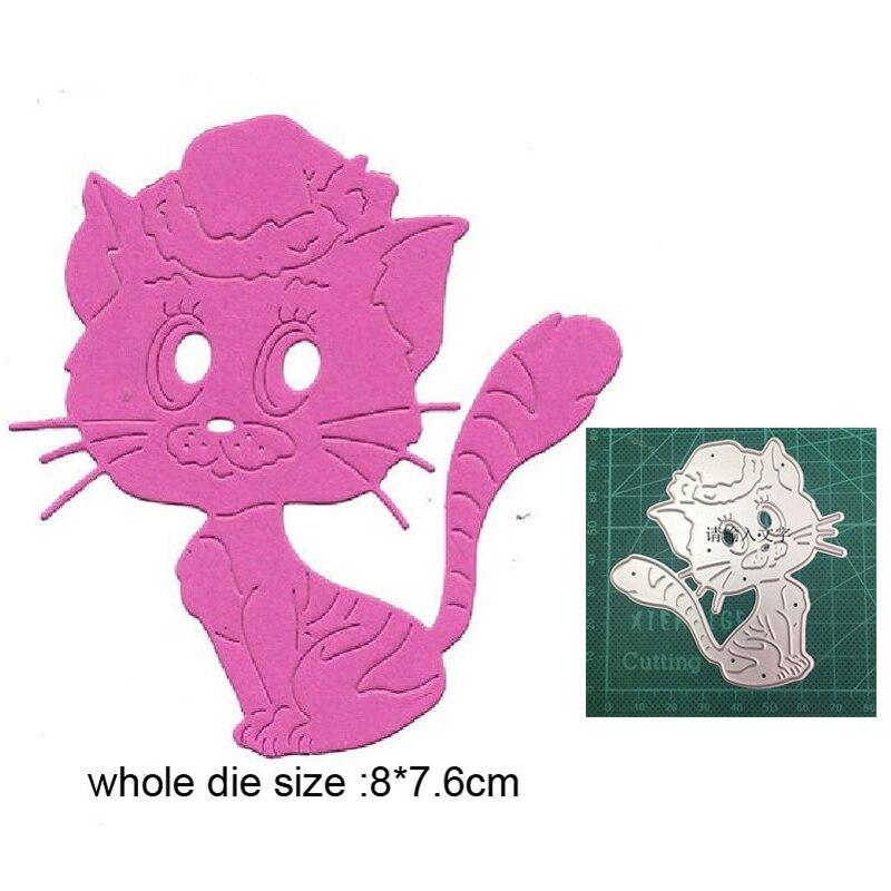 Металлические штампы для рукоделия, вырезанные штампы, форма для животных, кошка, скрапбукинг, штампы для бумаги, форма для ножа, лезвие, шта...
