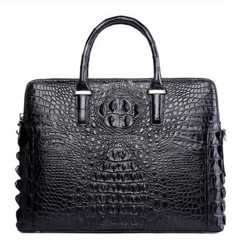 kafandi business men crocodile handbag  high - end men bags of high - capacity  crocodile leather men handbags