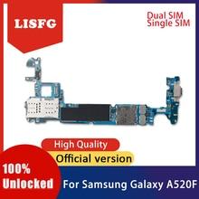 Placa base desbloqueada para Samsung Galaxy A5 A520F, placa lógica de desmontaje para Samsung Galaxy A5 A520F con Chips completos