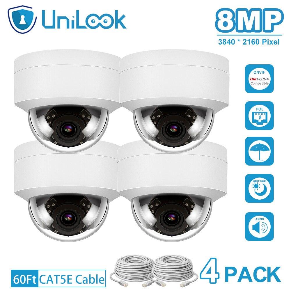 UniLook 4K 8MP Ultra HD POE IP Kamera im freien Audio Mikrofon Hikvision Kompatibel Onvif CCTV Sicherheit Kamera nachtsicht IP66