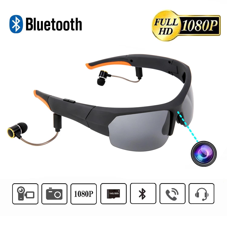 Mini Sun Glasses Eyewear Digital Video Recorder Glasses Camera Camcorder Video Sunglasses DVR Built-in 32GB Memory MP3 Player